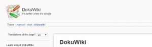 A screenshot of the MediaWiki homepage.