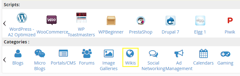 The Wikis button.
