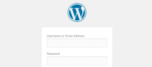 Your WordPress login page.