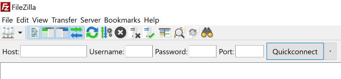 A screenshot from the FileZilla client.