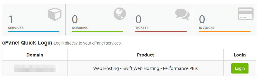 Entering your website's cPanel.