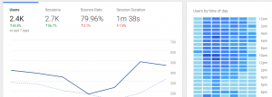 A Google Analytics traffic screen.