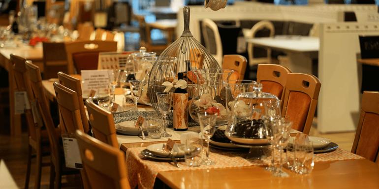 A restaurant table.