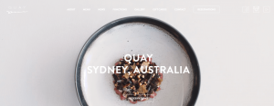 The Quay homepage.