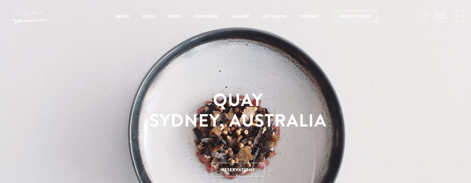The Quay homepage.