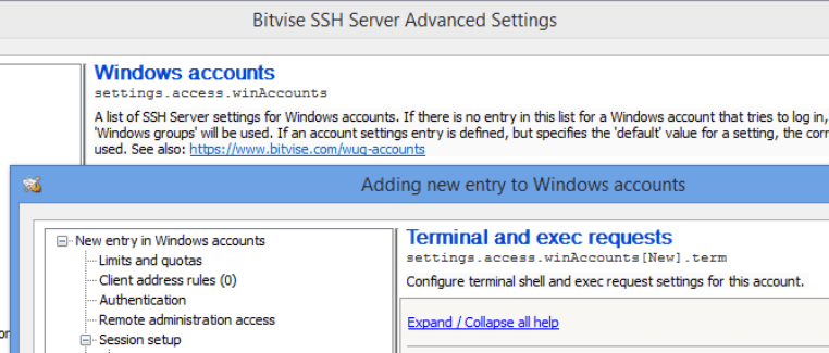 An example of an SSH client.