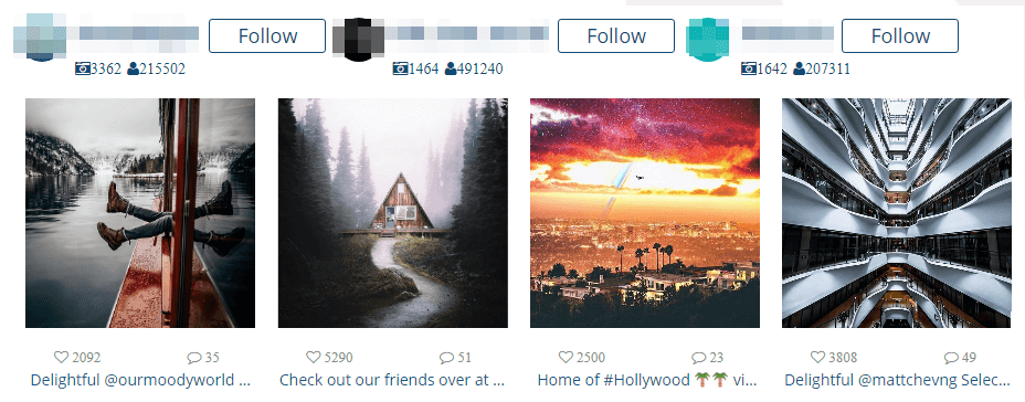 An example of an element created using the Instagram Feed WD plugin.