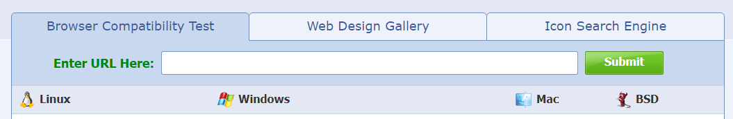 The Browsershots homepage.
