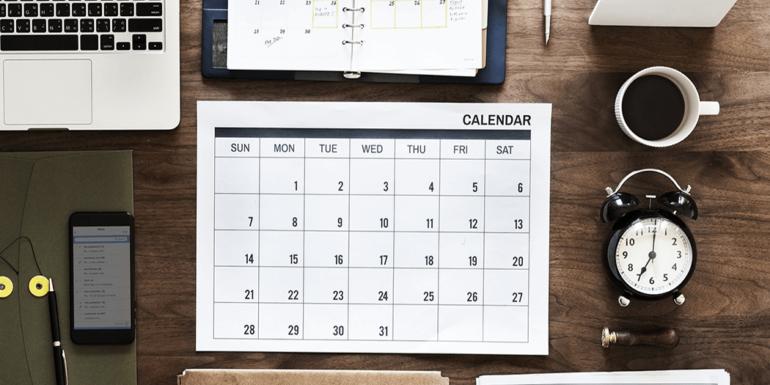 A blank calendar.