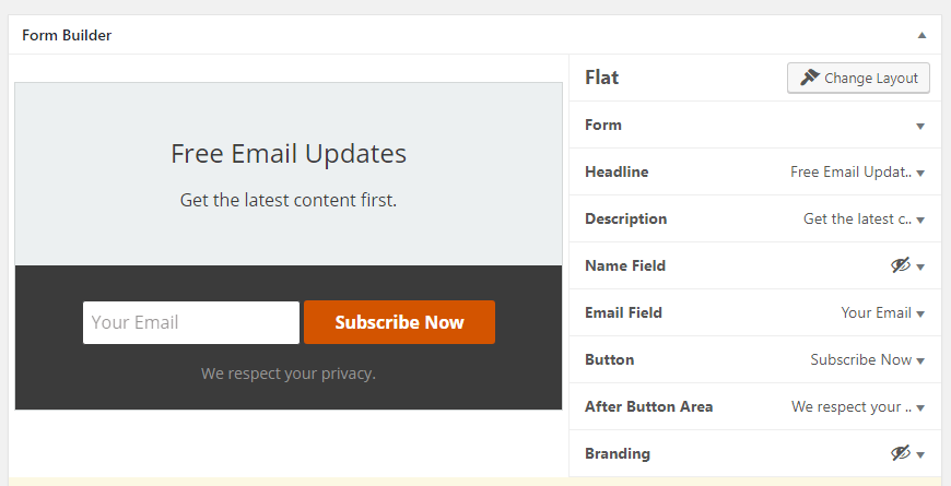 Customizing your signup form.