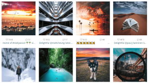 An example of an Instagram feed.