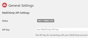 Adding your MailChimp API key to the plugin.