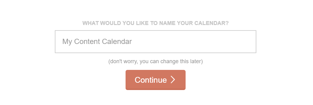 Setting a name for your calendar.