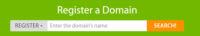 Registering a new domain.
