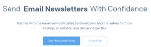 The Sendgrid homepage.