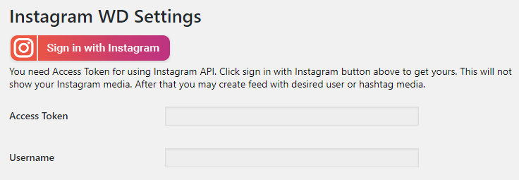 Signing in with Instagram.