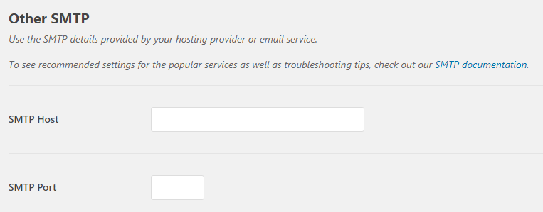 Configuring your Mandrill SMTP settings.