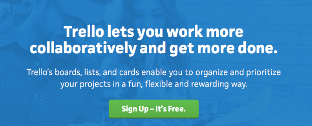 The Trello homepage.