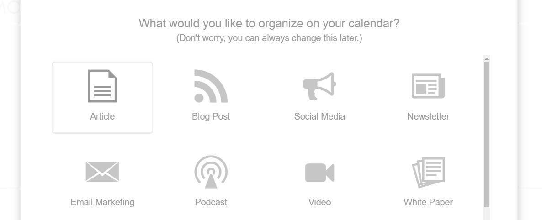 Configuring your calendar.