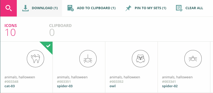 Adding an icon to your clipboard.