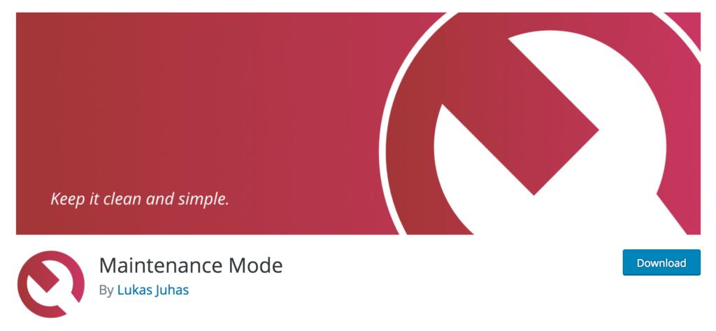 The Maintenance Mode plugin in the plugin directory.