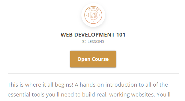 A web development course.