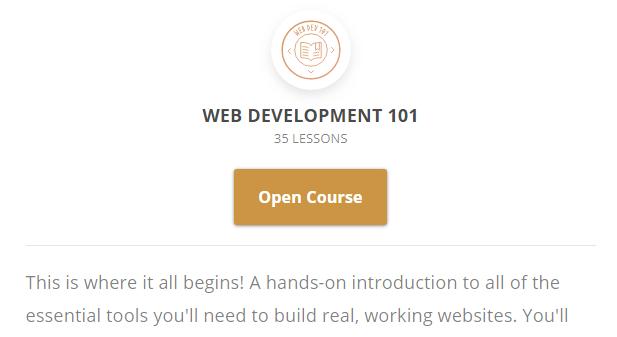 A web development course.