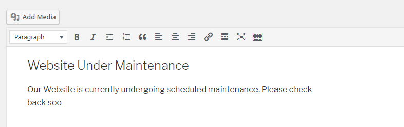 How to Create a WordPress Maintenance Page