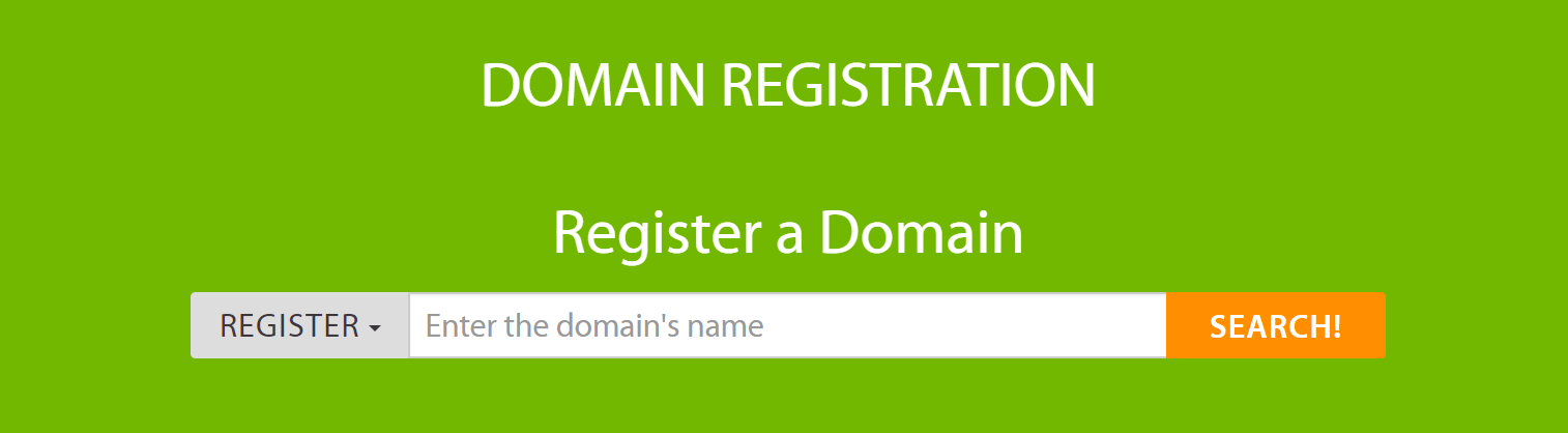 The A2 Hosting domain search tool.