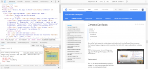 An example of Chrome DevTools.