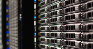A row of servers.