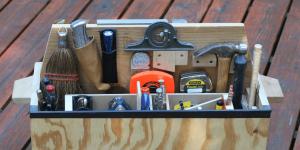 A toolbox full of tools.