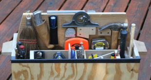 A toolbox full of tools.