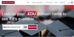 The EDUCAUSE website.