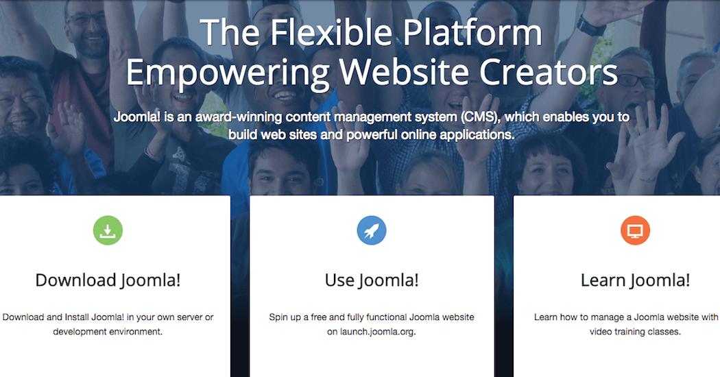 The Joomla! website.