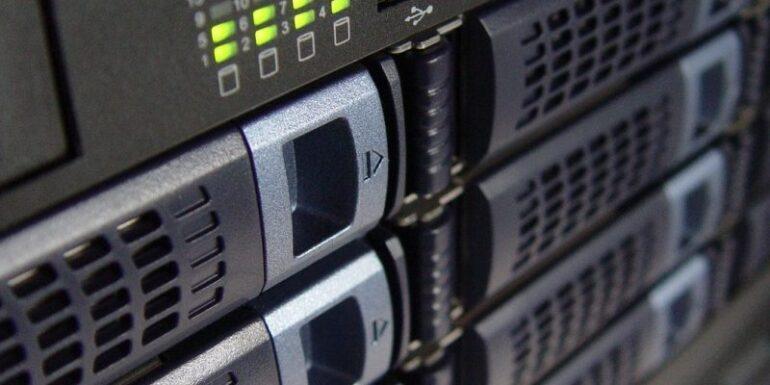 A photograph of a server.