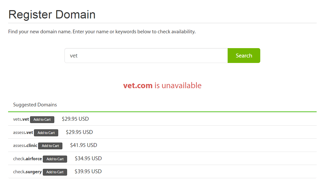 The A2 hosting domain checker.