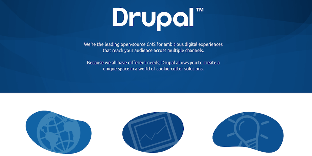 The Drupal website.