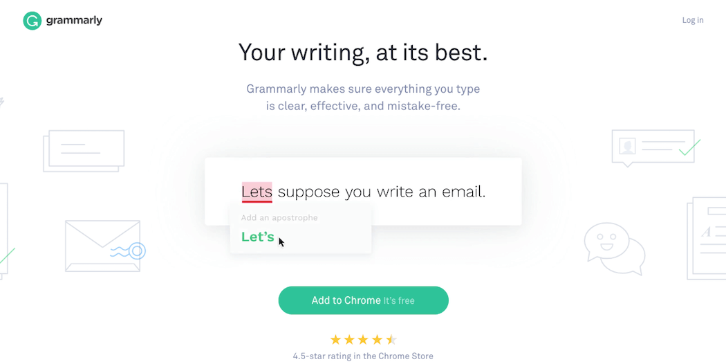 The Grammarly website.