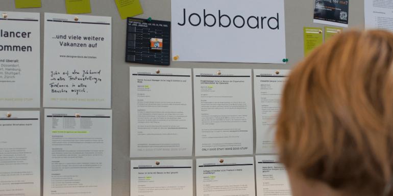 A physical job board.