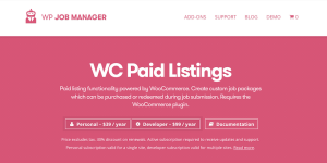 The WP Job Manager Paid Listings extension.