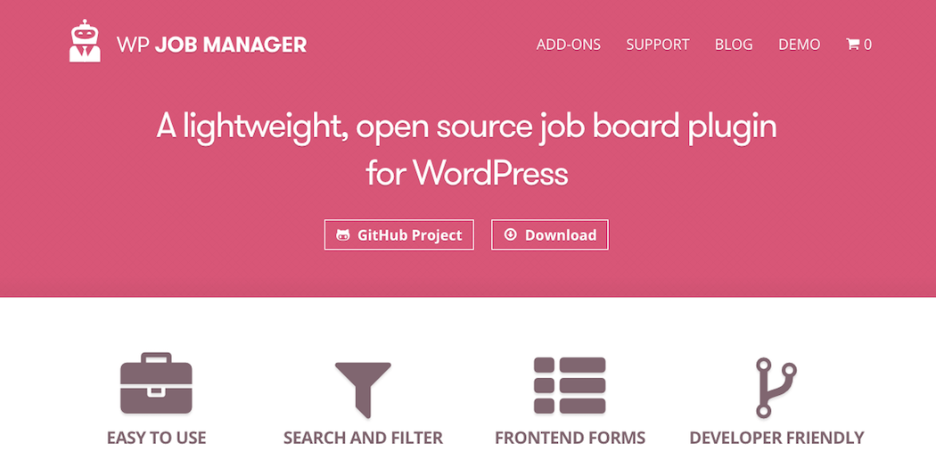The WP Job Manager plugin.