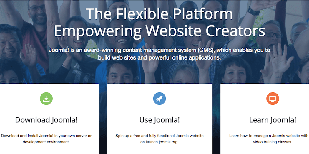 The Joomla website.