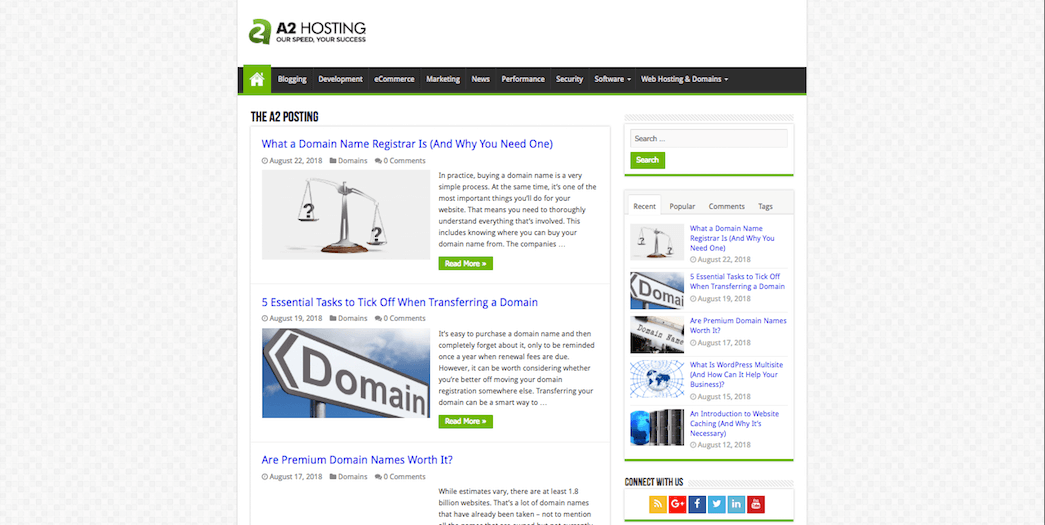 The A2 Hosting blog.