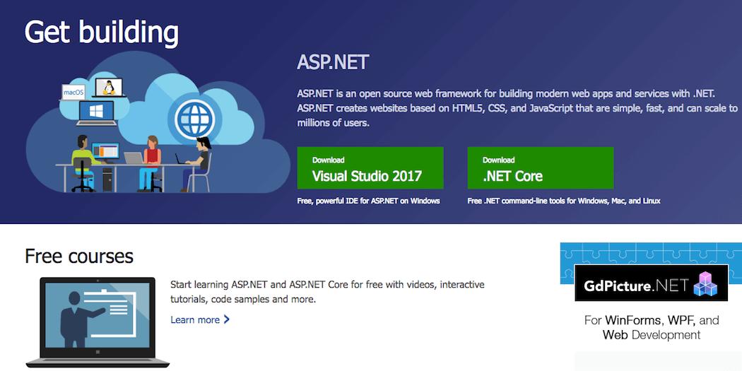 The ASP website.
