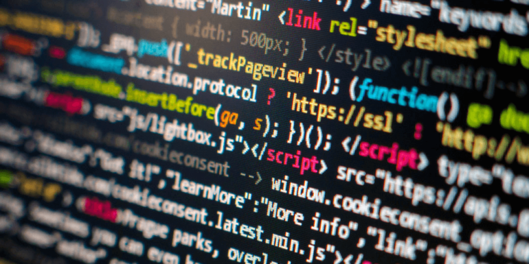 Code on a computer screen.