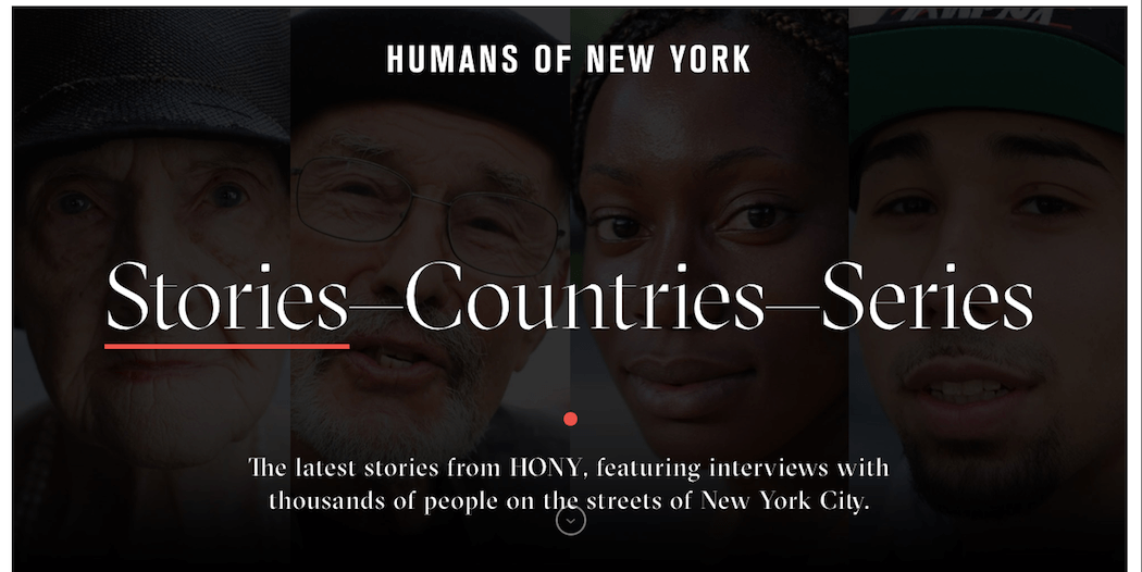 The Humans of New York website.