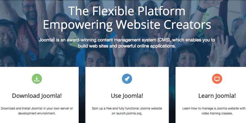 The Joomla website.