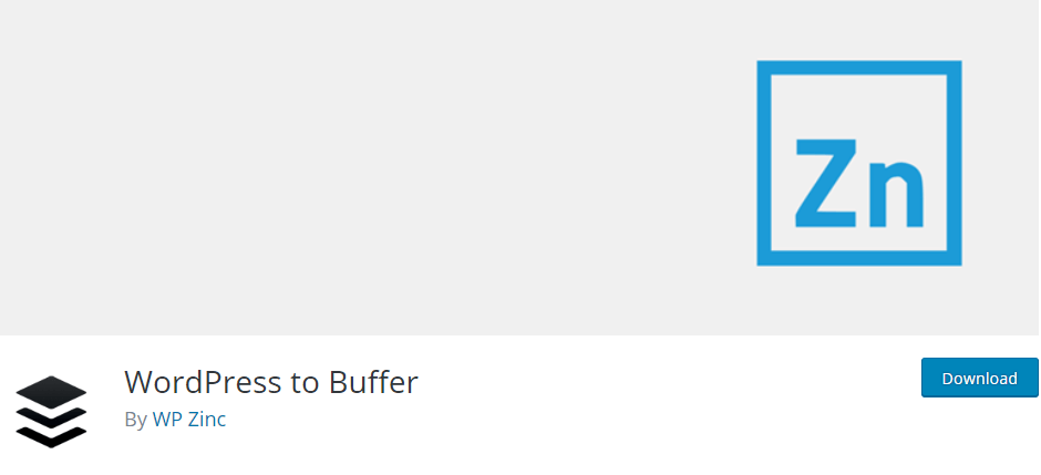 The WordPress to Buffer plugin.