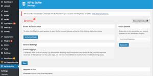Authorizing the WordPress to Buffer plugin.